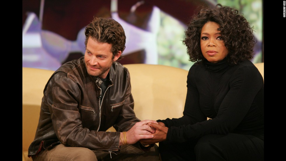 "Interior designer and television personality Nate Berkus (seen here with Oprah Winfrey) lost his partner, <a href=""http://www.oprah.com/oprahshow/In-Memoriam-Remembering-Oprah-Show-Guests"" target=""_blank"">Fernando Bengoechea</a>, during a 2004 tsunami while the pair was vacationing in Sri Lanka. Berkus is now engaged to Jeremiah Brent. The pair appears in a new Banana Republic campaign featuring real couples."