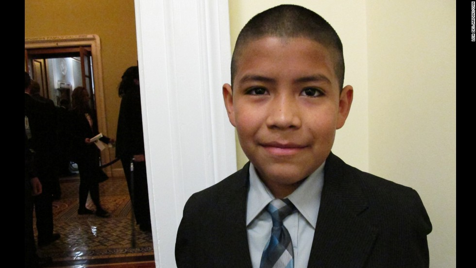 <strong>Luis Castaneda:</strong> The fifth-grader won his ticket from Rep. Henry Cuellar, D-Texas, in an essay contest. Luis wrote that going to the State of the Union would change his life forever and help move him toward his lifetime goal of attending Yale. Asked if his family is proud, Luis' grandmother Sylvia choked back tears.
