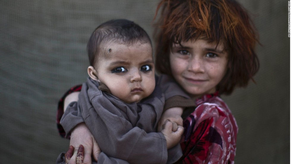 Khalzarin Zirgul, 6 and Zaman, 3 months -- For more than three decades, Pakistan has been home to one of the world's largest refugee communities.