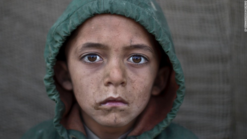 "Waheed Wazir, 6  -- ""Their tough life makes them look older and react as elderly people,"" Muheisen told Time magazine."