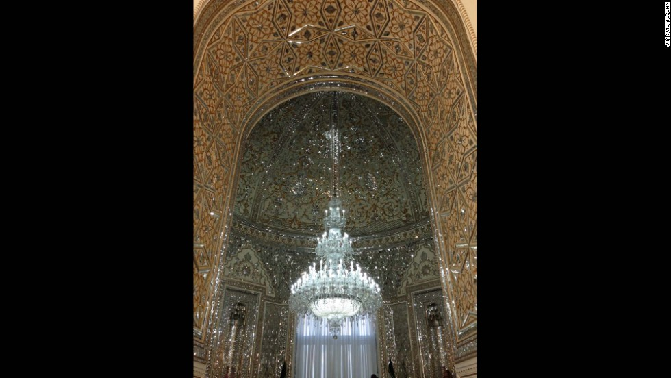 "The Hall of Mirrors inside the Foreign Ministry in Iran.  This room is just to the side of the reception hall where foreign ministers of other countries are received.  A massive chandelier is at its center and the walls of this room are lined with intricate glass patterns.  Photo by CNN's Jim Sciutto.  Follow Jim (<a href=""http://instagram.com/jimsciutto"" target=""_blank"">@jimsciutto</a>) on Instagram for more photos from inside Iran."