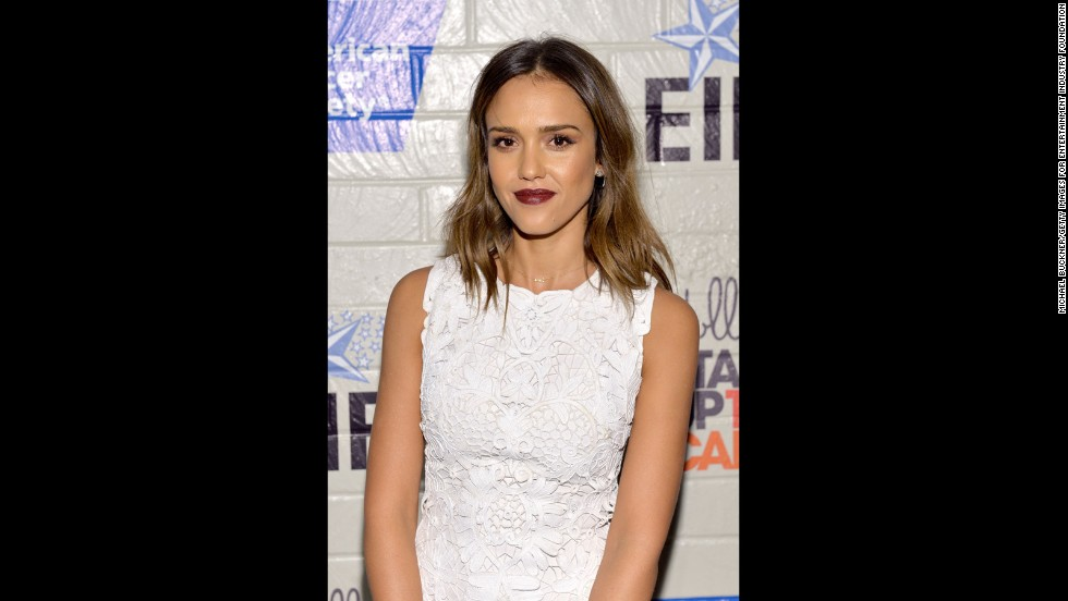 "Jessica Alba dipped her toe in the short-hair trend in January when she debuted what celebrity hairstylist Jen Atkin called a ""fashion bob."" Alba's look is all about keeping the front long and the ends textured."