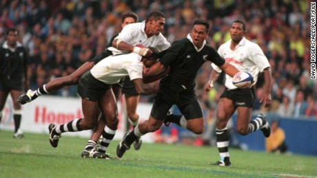 All Blacks legend Jonah Lomu was one of rugby's first global stars.