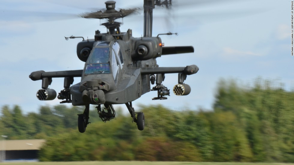 The request includes $1.1 billion for 52 Apache attack helicopters.