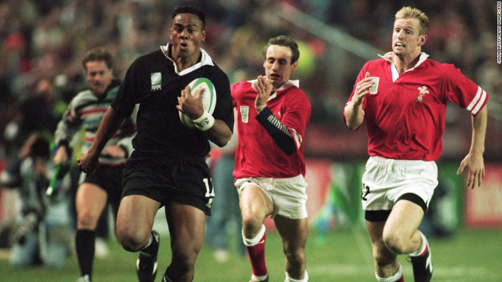 Lomu starred at the 1995 Rugby World Cup in South Africa. The winger scored seven tries tries as New Zealand reached the final, though the All Blacks lost to the hosts.