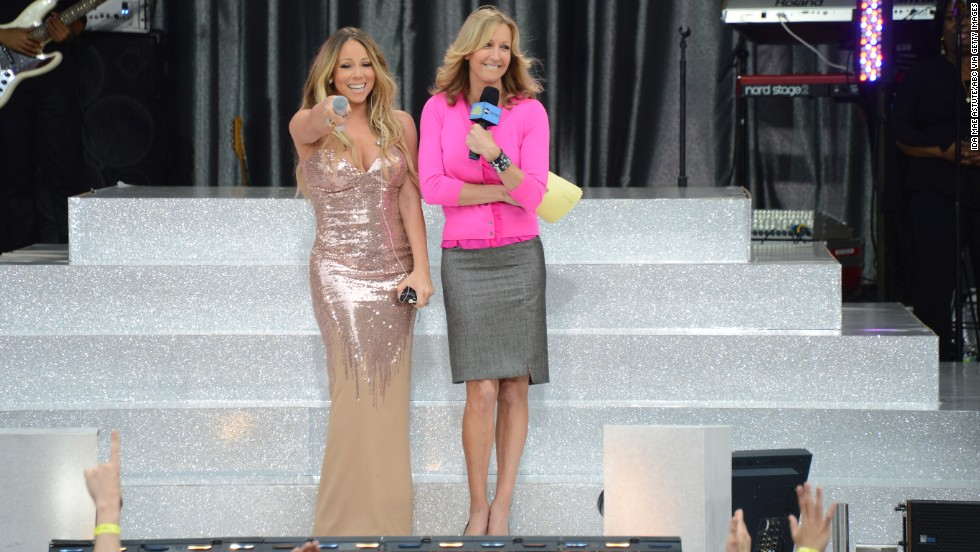"In 2013, <a href=""http://marquee.blogs.cnn.com/2013/05/24/mariah-careys-dress-drama-on-gma/"" target=""_blank"">Mariah Carey showed ""Good Morning America's"" viewers</a> more of her than they expected. The singer was in the middle of her live performance in Central Park when her floor-length Versace dress decided to call it quits. ""Oh, s*** now the back of my dress just popped,"" Carey said, as she turned around to show the audience that the top half of her dress had split apart. As Carey's team rushed to try to put her back in the sparkling gown, the singer tried to make lemonade from her sartorial lemons. ""Hey, I'll just hold (my breasts) up the whole time, what are you going to do?"""