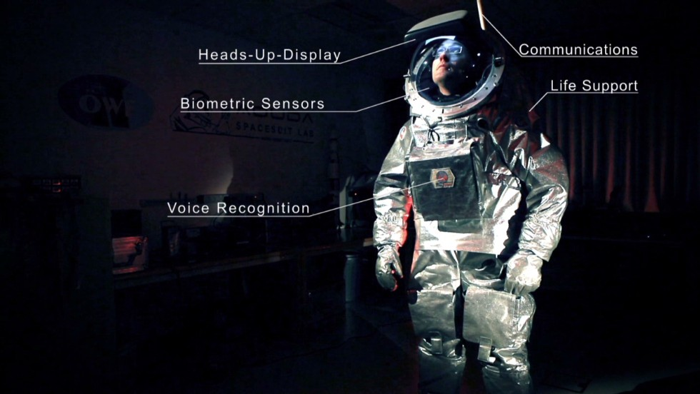 The spacesuit inspired by medieval armor, made for walking on Mars