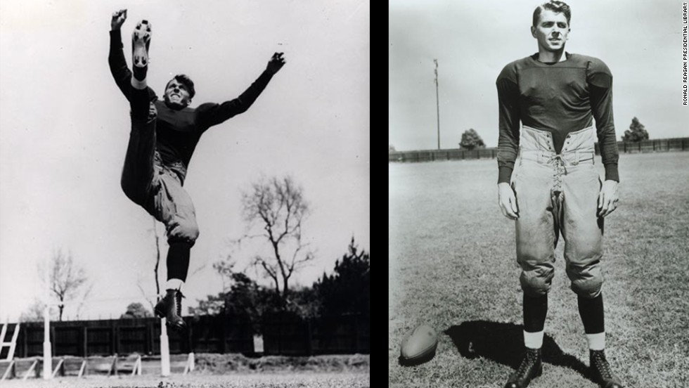 "President Ronald Reagan played American football player George Gipp of Notre Dame in the 1940 movie ""Knute Rockne-All American."" The iconic role was always associated with him and in Reagan's farewell address at the 1988 Republican Convention, he told presidential candidate George H.W. Bush to ""Go out there and win one for the Gipper."""