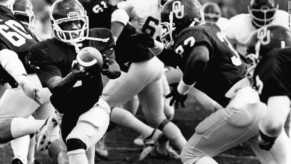 Before serving as a House member representing Oklahoma's 4th Congressional District from 1995-2003, J.C. Watts played football as a quarterback for the University of Oklahoma. He went on to play for the Canadian Football League in the early 80's until his retirement in 1986.