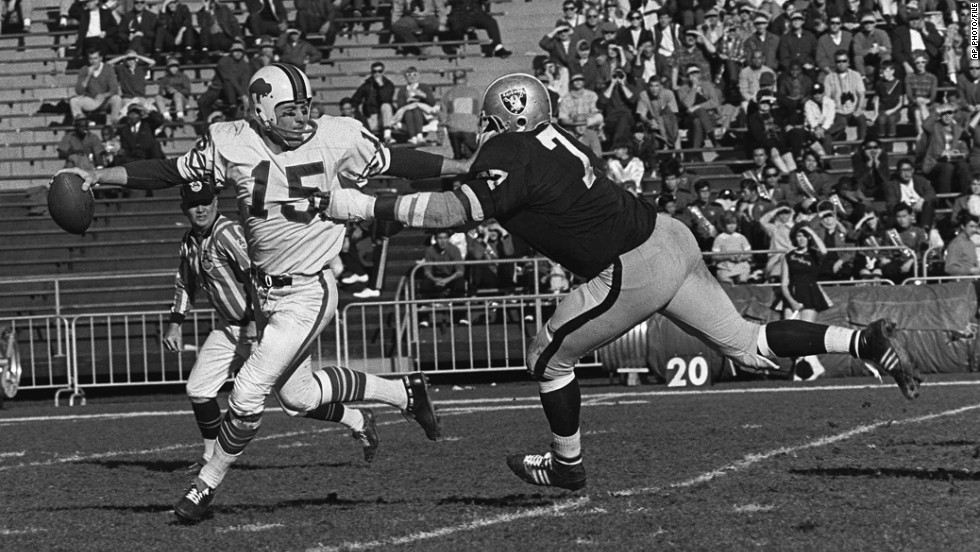 Jack Kemp, former Vice Presidential candidate and Republican Congressman from New York dove into politics after 13 seasons in the AFL. As quarterback, he lead the Buffalo Bills to two AFL championships in 1964 and 1965.