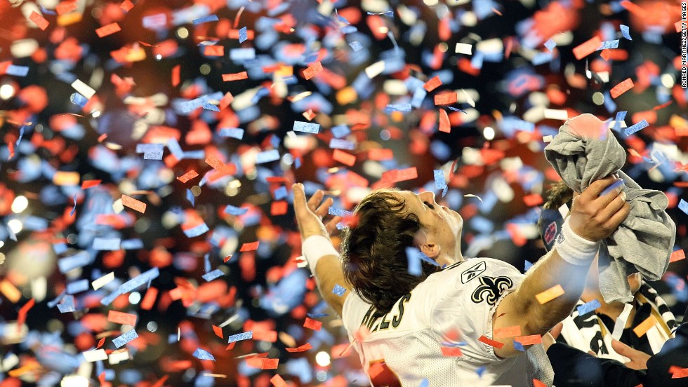 "New Orleans Saints quarterback Drew Brees led his team to a 2010 Super Bowl win. He hinted that he might run for political office one day: ""Politics fascinates me... the fact is that anybody who goes into politics feels like 'I can make a difference'. But it's not one person, you need so many others. I would love to do it, probably at some point."""