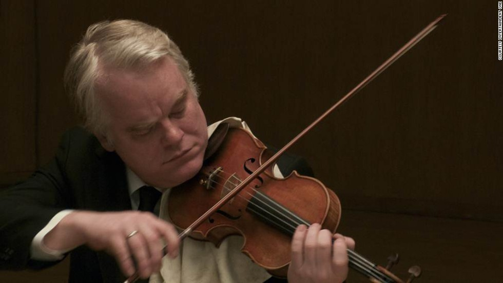 "Hoffman appears in 2012's ""A Late Quartet."" He reportedly learned how to play the violin during his role as a member of a string quartet. <a href=""http://www.huffingtonpost.com/katie-calautti/philip-seymour-hoffman-christopher-walken_b_2629784.html"" target=""_blank"">He told the Huffington Post </a>that ""I really got into the violin thing, because it's not acting, and I got off on that."""
