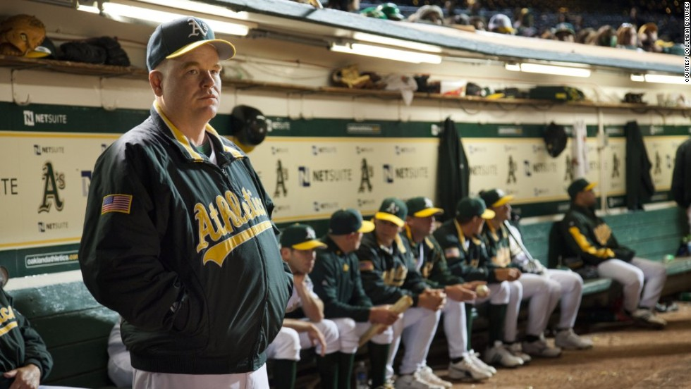 "Hoffman interpreta a Art Howe en ""Moneyball"" (2011). <br />"