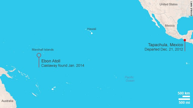 Castaway Begins Journey Home From Marshall Islands Stops In - Marshall islands map