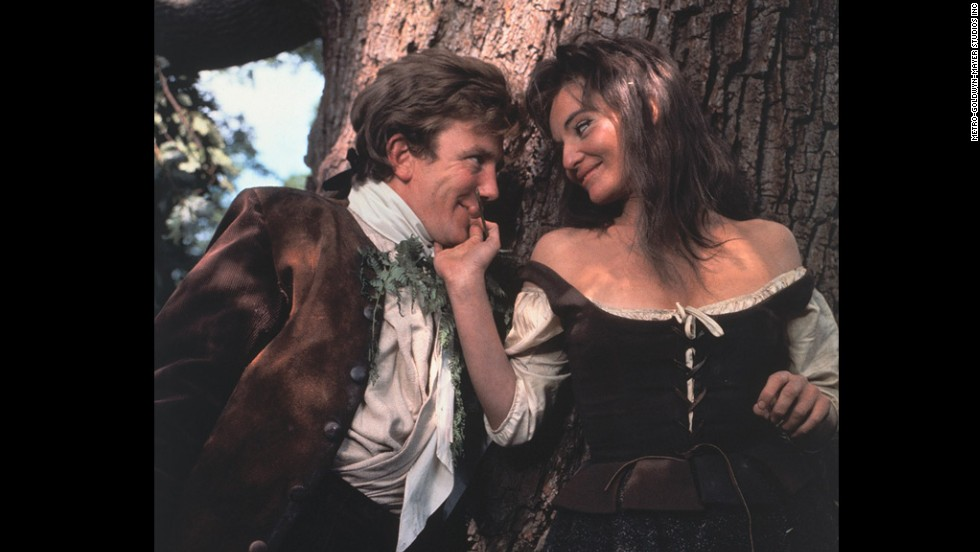 "Albert Finney tackled the amorous title role in ""Tom Jones,"" a British comedy based on Henry Fielding's novel about a foundling raised by a wealthy landowner. Diane Cilento, right, was one of his conquests. Tony Richardson also won the Oscar for his direction of the film."