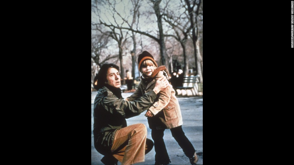 "Dustin Hoffman played a bewildered dad who had paid little attention to family life until his wife leaves him and he has to raise their son (Justin Henry, right) alone in ""Kramer vs. Kramer."" A bitter custody battle ensues once the wife (played by Meryl Streep) decides she wants her son back. Both Hoffman (best actor) and Streep (best supporting actress) won Oscars for their roles, and Robert Benton took home direction and writing honors for the film."