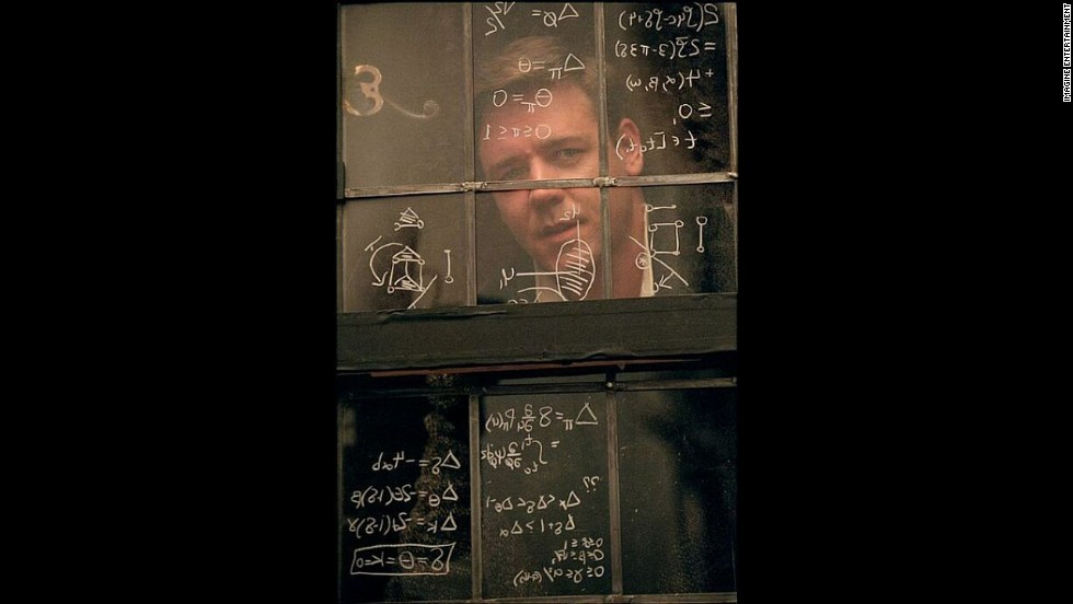 """A Beautiful Mind,"" the story of troubled mathematician John Nash (Russell Crowe) and his battle with mental illness, won four Oscars."