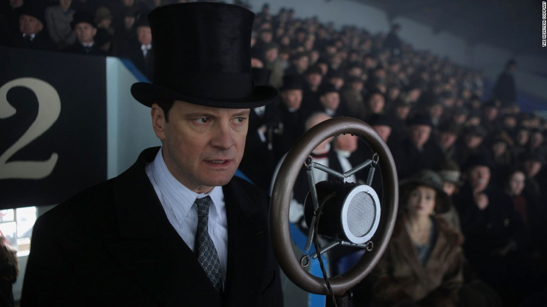 "Colin Firth earned an Oscar for his performance as King George VI, a man afflicted with a speech impediment, in 2010's ""The King's Speech."""