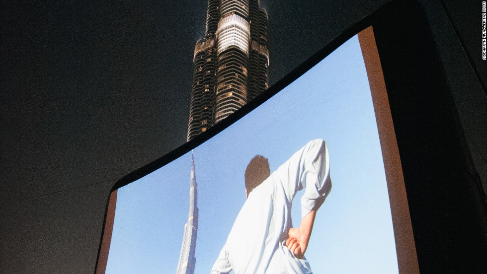 One of the most poignant moments in the documentary about the singing competition, Champ of the Camp, was when one contestant, Adnan, who helped build the Burj Khalifa, returned to the tower for the first time and ponders what life must be like inside the world's tallest building. The film's world premier was set against the Burj Khalifa, and attracted 12,000 viewers.