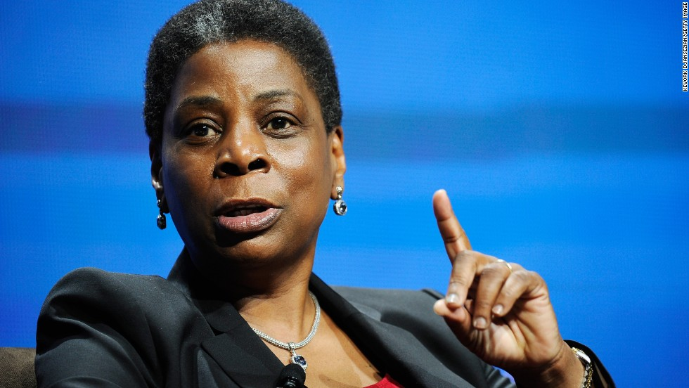 Ursula Burns, chairman and chief executive of Xerox, is listed as Forbes 14th most powerful woman in the world. Burns joined Xerox in 1980 as a summer intern, according to the company website, before working her way up to be named chief executive in 2009.