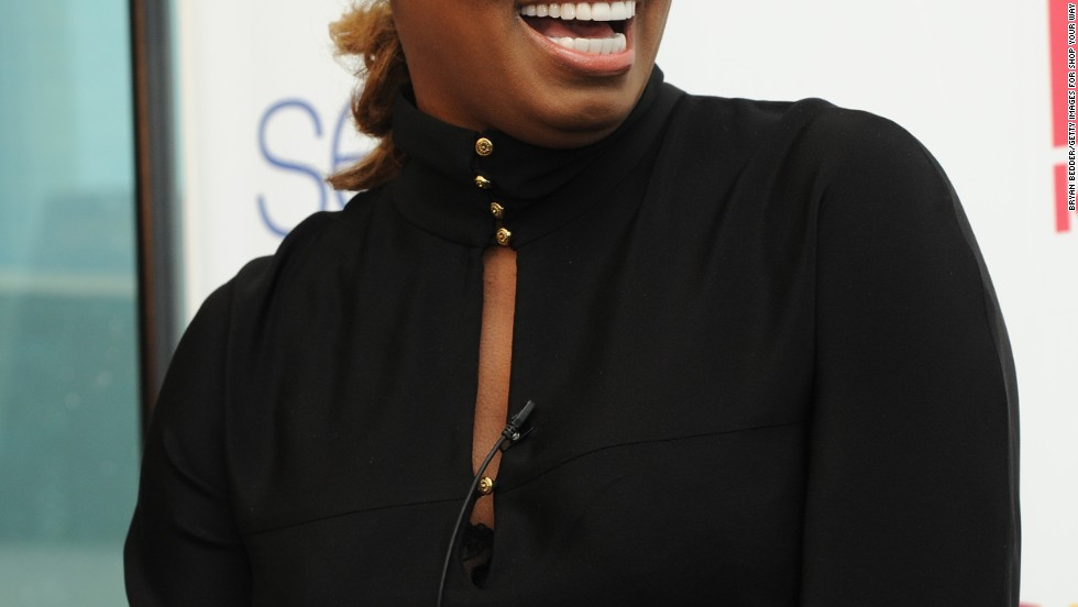 """Real Housewives of Atlanta"" star NeNe Leakes flashes her pearly whites at a Shop Your Way event in New York City on February 5."