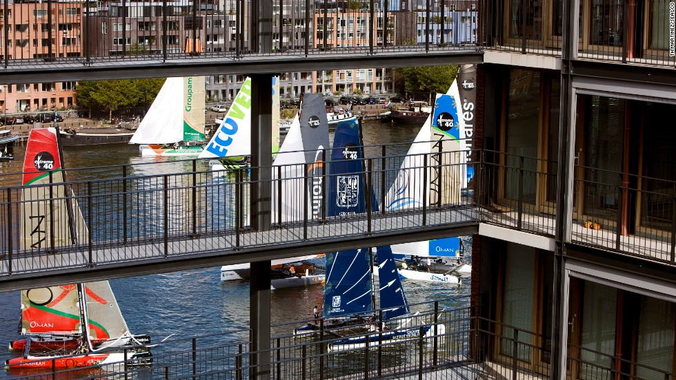 No venue is too small, apparently, with crews even battling it out on the narrow canals of Amsterdam, Holland, in recent years.