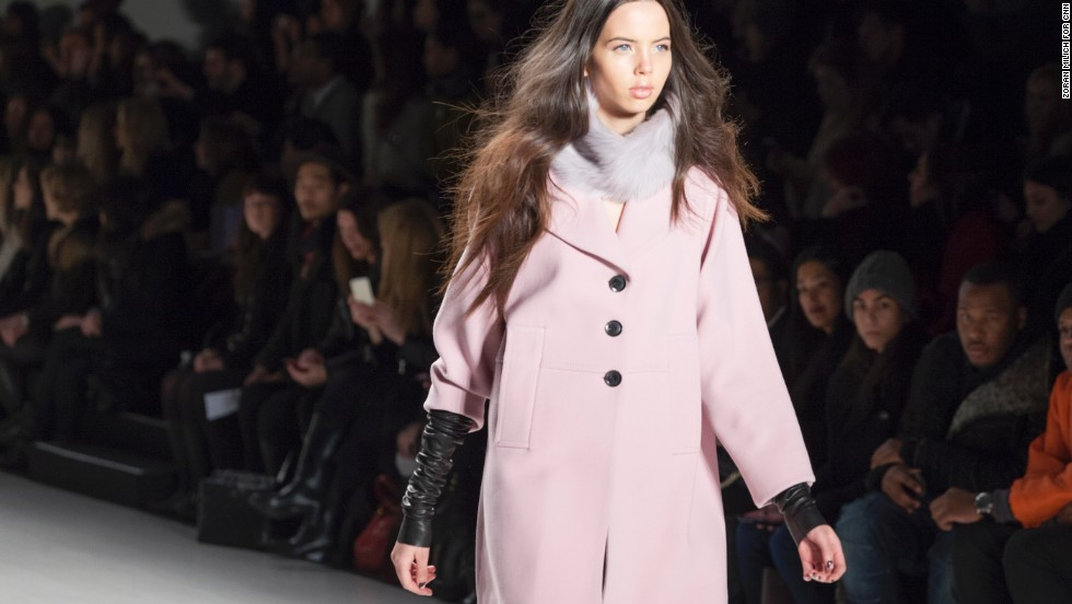 Marissa Webb styled many coats with leather arm warmers to lengthen the sleeve.