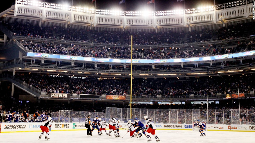 "New York Islanders faced the New York Rangers as ice hockey hit the Yankee Stadium in the Big Apple for another ""Stadium Series' clash as the NHL geared up ahead of the Winter Olympics."