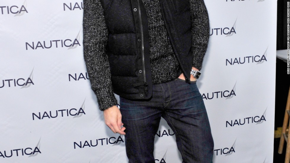 Kellan Lutz strikes a pose at the Nautica show during New York Fashion Week on February 7.