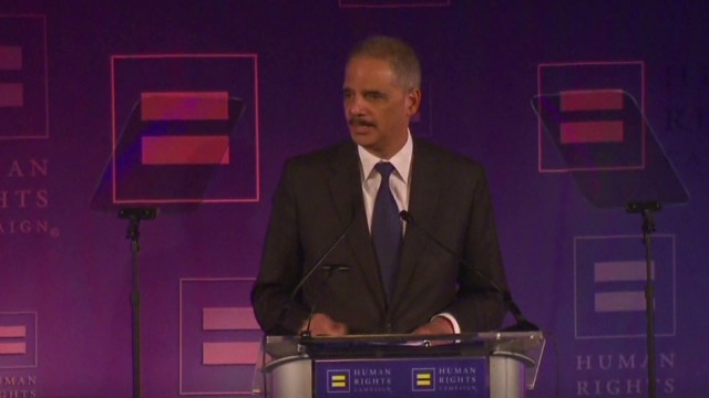 Holder goes for the Gold on gay rights