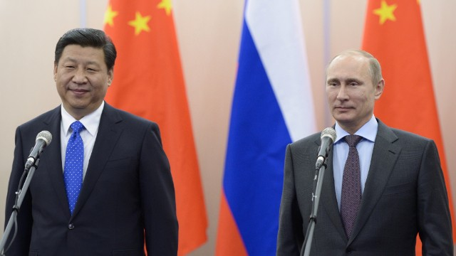 "Chinese president Xi Jinping and Russia's president Vladimir Putin meet in Sochi for the Winter Olympics. In an interview with Russian TV,  Xi declared he was ""absolutely satisfied"" with the development of China-Russia ties."