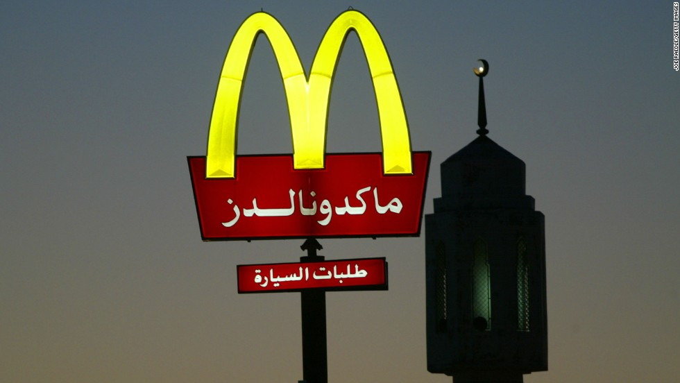 A McDonald's sign in front of a minaret in Kuwait City. The fast food giant has managed to succeed in many Gulf states, including Kuwait, Saudi Arabia and the UAE.