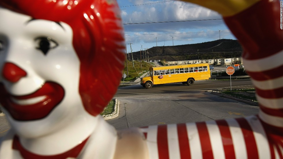 There's even a McDonald's branch within the compound at the U.S. naval base at Guantanamo Bay. The company says it has no plans to open other restaurants on the island of Cuba.