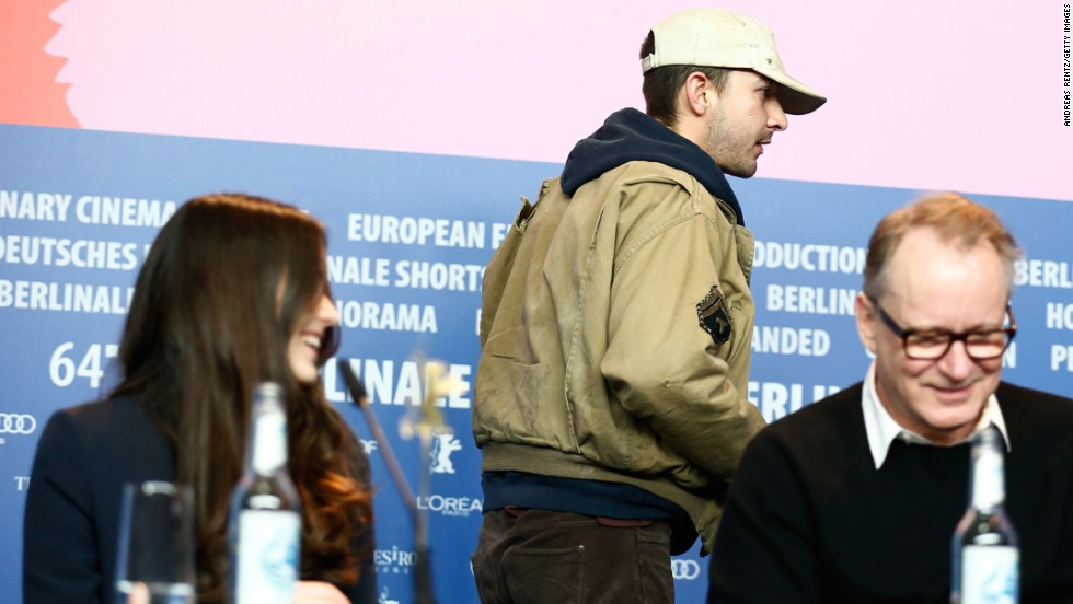 "After his skywriting effort, LaBeouf's actions grew increasingly strange. He said he was retiring from public life in early January, and then began tweeting ""I AM NOT FAMOUS ANYMORE"" daily for weeks. All of that fueled rumors that he was actually in the middle of a performance art piece, and one could only hope that's what caused his bizarre appearance at the Berlin Film Festival. On February 9, he abruptly walked out of a press conference for his film ""Nymphomaniac: Volume I"" after randomly answering a question with a quote from a French soccer star."