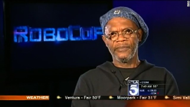 CNN affiliate KTLA's Sam Rubin appeared to confuse Samuel L. Jackson, pictured, for Laurence Fishburne during a live TV interview.