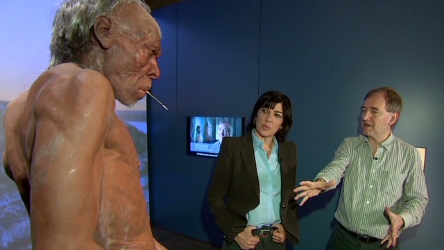 human history Christiane Amanpour London Natural History Museum homo sapiens neanderthals_00014315.jpg
