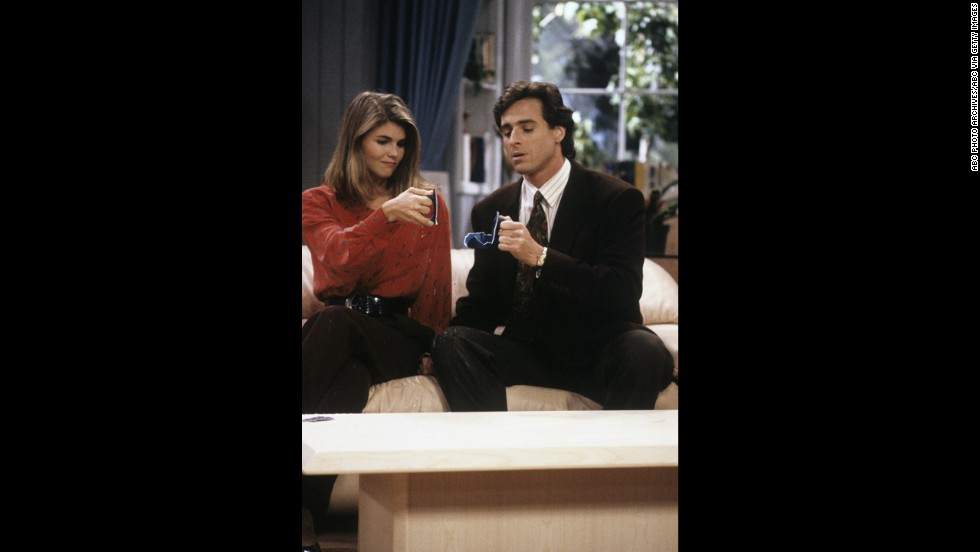 "Lori Loughlin as reporter Becky Katsopolis in ""Full House."""
