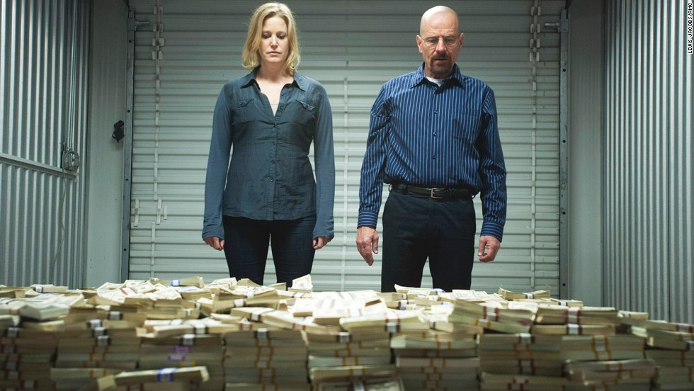 "Anna Gunn as Skyler White, who held many jobs, including writer and bookkeeper, in ""Breaking Bad."""