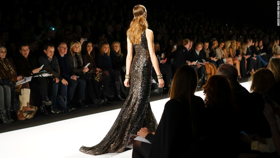 The Badgley Mischka show was not short on gold and sparkles.