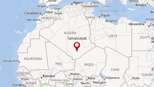 Map: Algeria plane crash