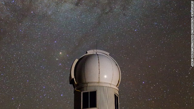 ANU's Skymapper telescope, seen under the southern sky.
