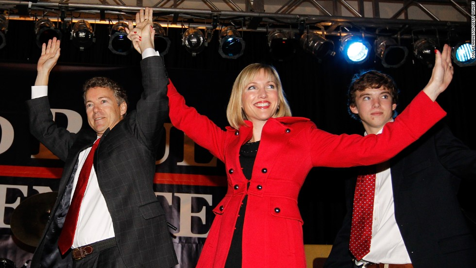 Paul and his family celebrate his 2010 Senate victory during an election night party in Bowling Green.