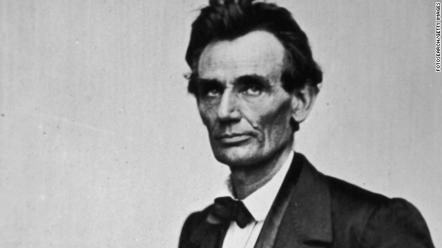 Abraham Lincoln on January 1, 1860, the year he was elected president.