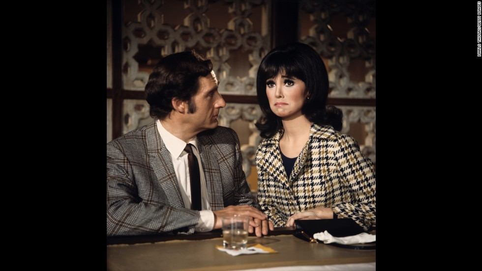 "Caesar and Marlo Thomas star in a scene from the TV series ""That Girl"" in 1968."