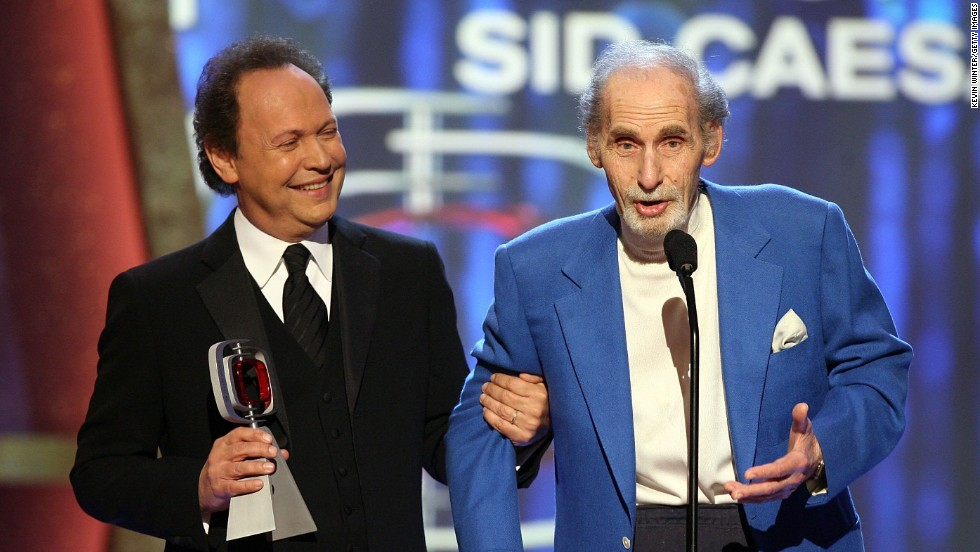 Billy Crystal presents Caesar with the Pioneer Award onstage at the 2006 TV Land Awards.