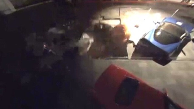 Watch sinkhole devour Corvette