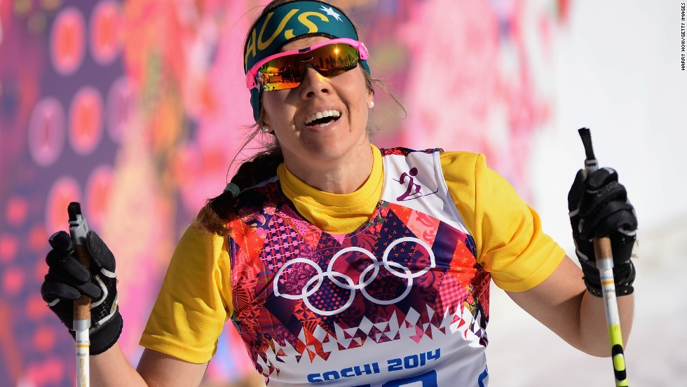 Cross-country skier Esther Bottomley of Australia competes in the women's 10-kilometer classic on February 13.