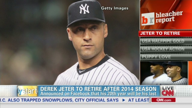 Derek Jeter says he'll retire after 2014