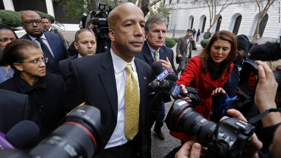 A reformer who led New Orleans through its worst disaster in modern history, Ray Nagin was convicted of taking hundreds of thousands of dollars in bribes and other favors from businessmen looking for a break from his administration. He was convicted of 20 of the 21 corruption-related counts against him and faces up to 20 years in prison. Prosecutors said Nagin, 57, was at the center of a kickback scheme in which he received checks, cash, wire transfers, personal services and free travel from businessmen seeking contracts and favorable treatment from his city.
