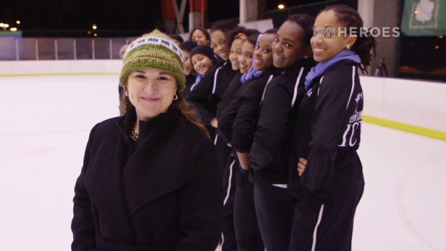 Figure Skating in Harlem participants must maintain a B+ average in school